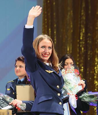 Победительница конкурса Елена Марченко (Могилевское отделение)