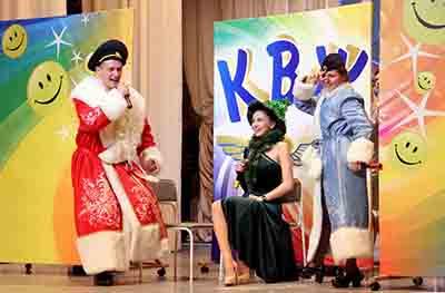 На сцене - команда Барановичского отделения