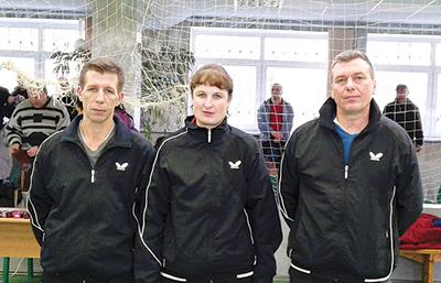 Команда Могилевского отделения - Евгений Карыткин, Наталья Данилевская и Александр Политаев