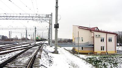 Входная горловина парка Е станции Орша-Центральная и новое бытовое здание