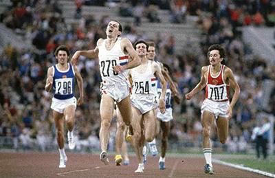 Николай Киров под номером 707 финиширует третьим. Москва, 1980 г.