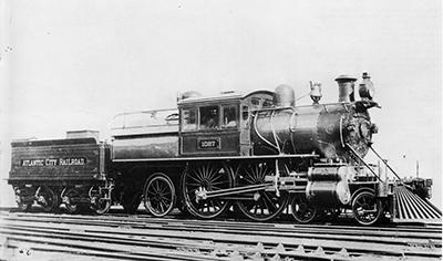 Первый скоростной американский паровоз серии Е2 (2-2-1), он разгонялся до 170,6 км/ч