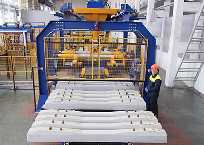 Осиповичский завод ЖБК: линия по производству железобетонных шпал