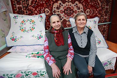 Валентина Пришивалко с дочерью Галиной Реер