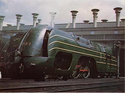 Бельгийский паровоз (2-2-1), 1939 г. Скорость - 145 км/ч