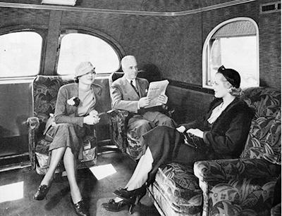 """В вагоне поезда """"Гайавата"""", США, 1934 г. Скорость - 166,5 км/ч"""