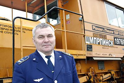Начальник Центра механизации путевых работ Иван Грудько