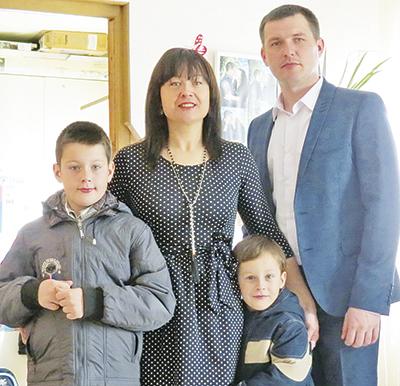 Правнучка Анна со своей семьей