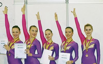 Команда БелГУТа - бронзовый призер открытого чемпионата Литвы по спортивной аэробике