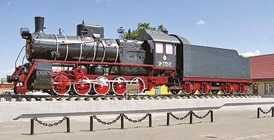 Паровоз серии Эр, установленный в Калинковичах