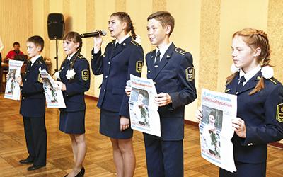 Воспитанники малой Белорусской стихами и песнями поздравили коллектив редакции