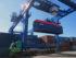 Погрузка на машину на площадке крупнотоннажных сорокафутовых контейнеров городской товарной станции Витебск