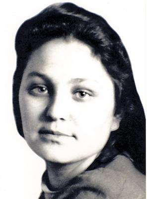 Нина Орлова в студенческие годы