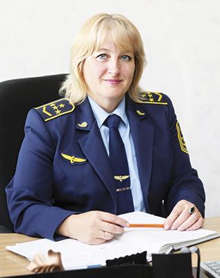 Начальник вокзала Валентина Поддубная