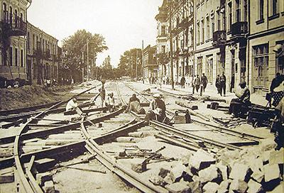 Прокладка трамвайных путей по ул. Володарского