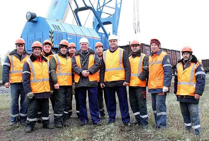 Команда восстановительного поезда Жлобин успешно справились с поставленными задачами