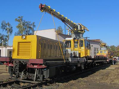 Первый обновленный в депо мотовоз МПТ-4