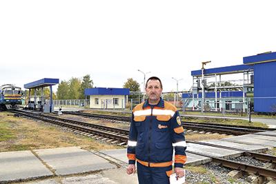 Начальник базы топлива Николай Стасевич