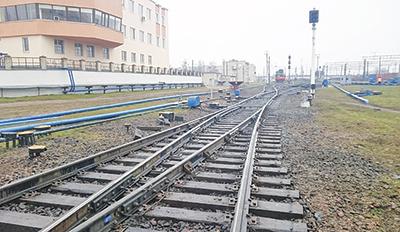 Новый стрелочный перевод на станции Брест-Восточный